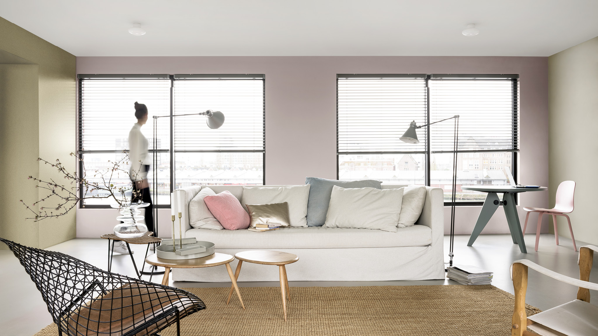 Ambiance inspiration couleurs Fresh & Airy - salon